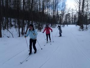 pierwsze kroki na nartach biegowych